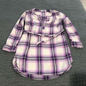 GAP flannel shirt dress! Excellent condition!